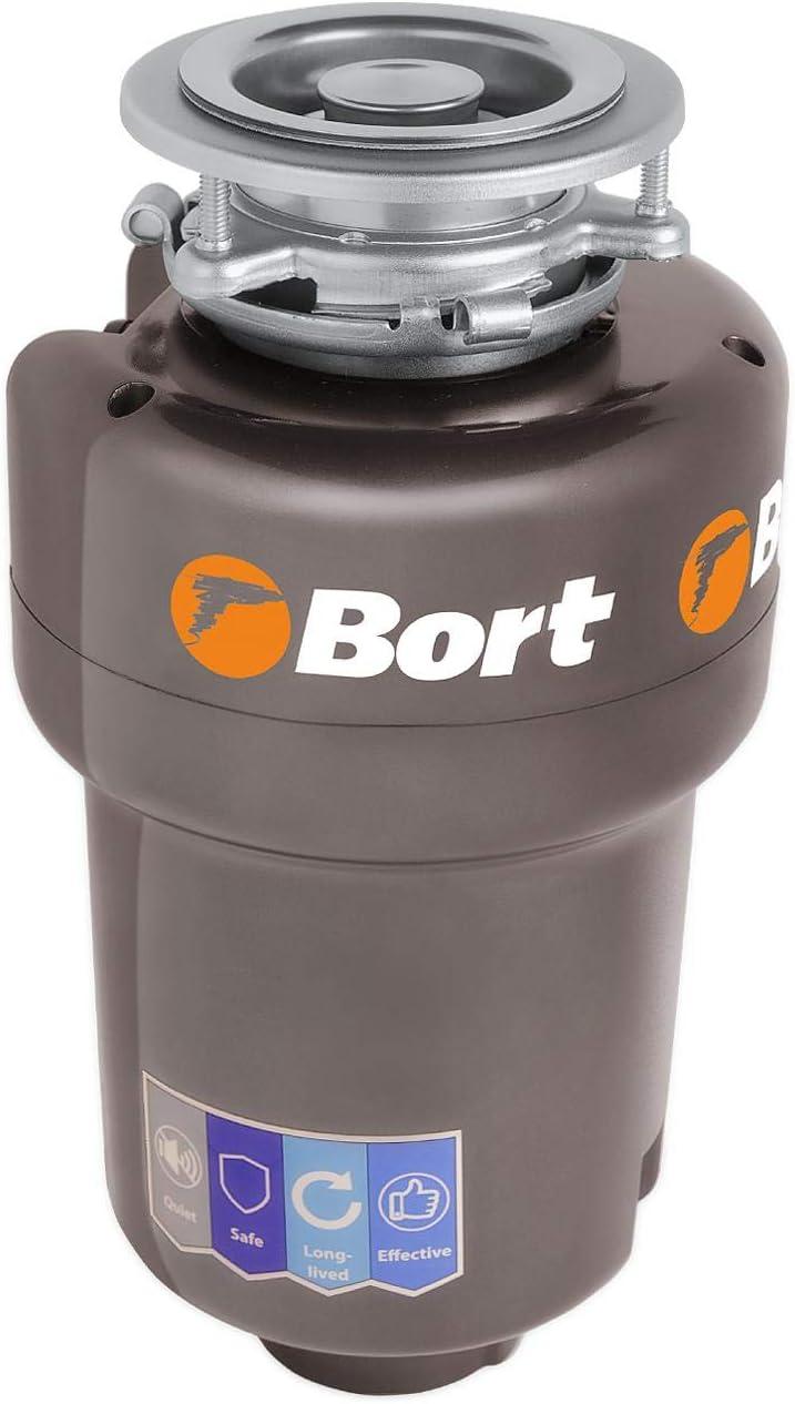 Bort TITAN MAX Power (FullControl) - Trituradora de residuos de cocina con interruptor inalámbrico e interruptor de aire, 780 W, 1 caballo de vapor, cámara de moler (1400 ml), muy silenciosa (56 db)