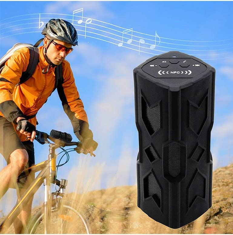 SunJet Bluetooth Speakers 4.0 with Built-in 3600mAh Rechargeable Battery 10-hour Playtime 3D Surround Sound Stereo Wireless Speakers with Bluetooth Waterproof Outdoor Sports// Dustproof Shockproof