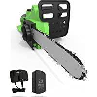 Advwin Chainsaw, 18V Rechargeable Mini Lithium Chainsaw with Batteries, Cordless Chainsaw for Courtyard Tree Branch Wood…