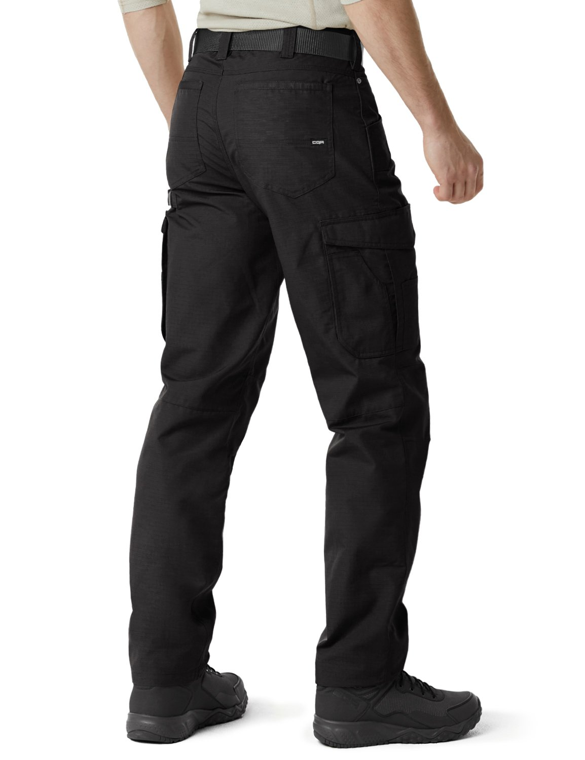 CQR CQ-TWP302-BLK_38W/34L Men's Operator Rip-Stop Tactical Work Utility Pants EDC TWP302 by CQR (Image #2)