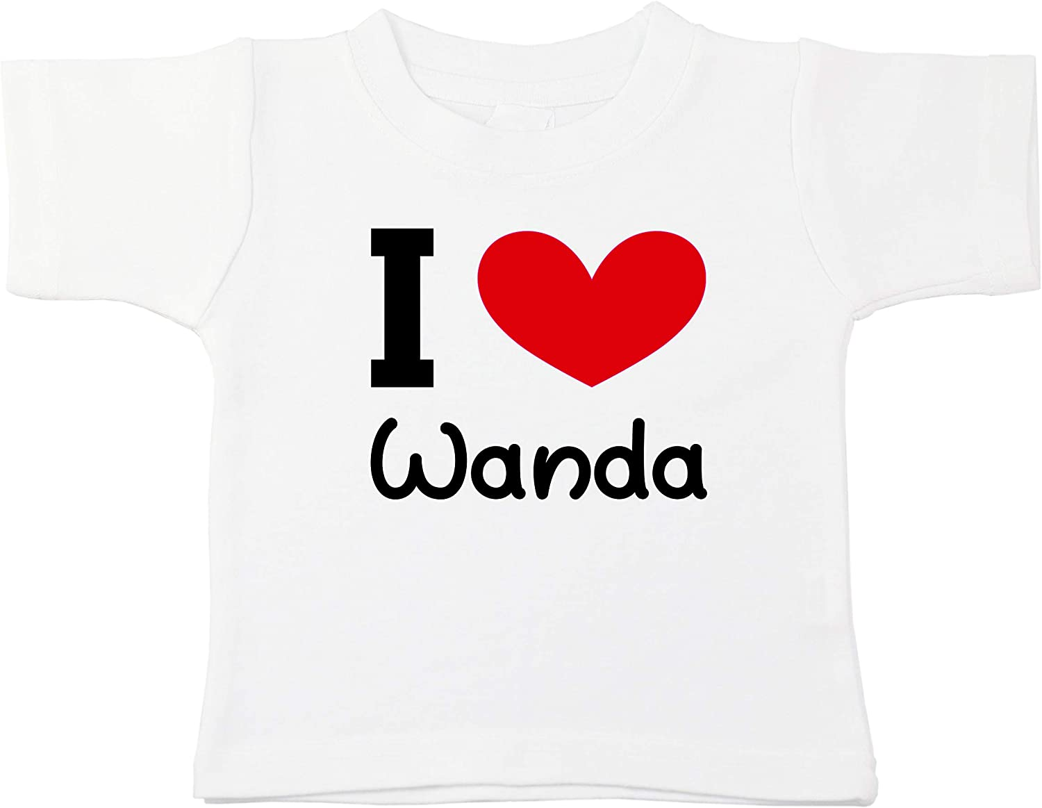 Kinacle I Love Wanda Personalized Baby//Toddler T-Shirt