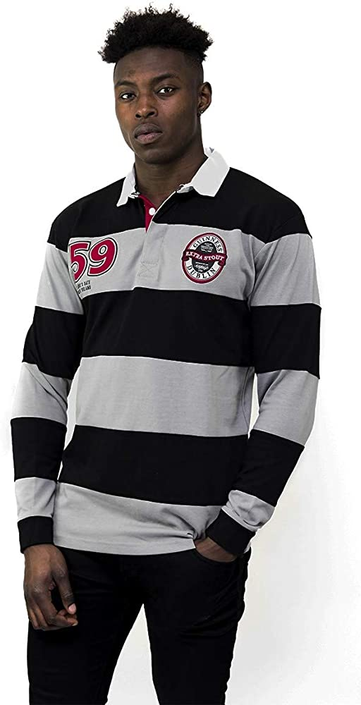 6 Nations Breathable Rugby Shirt Black