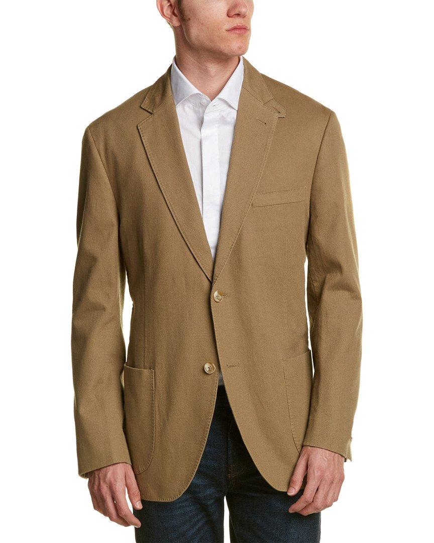 Kroon Men's Bono 2 Cotton With Stretch Italian Fabric, Khaki, 44 Regular