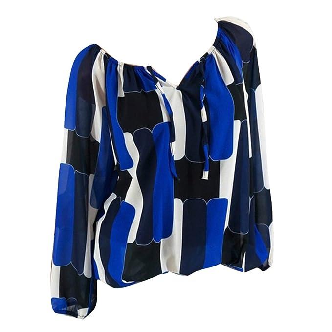 Kootk Mujer Camisetas Off Shoulder Tops Camisa Manga Larga Blusa Pullover Impreso Casual Tunic Blusa Hemd