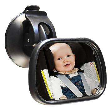 Sicherheit /& verstellbar Drehung bruchsicherem Kind Spiegel Baby Auto Spiegel sucktion Tasse auf Windschutzscheibe oder Clip auf Auto Sonnenschutz Visier