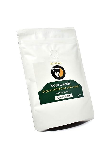 Kopi Luwak Premium (Café de Luwaks silvestres) - Molido Grueso - El café más raro del mundo -