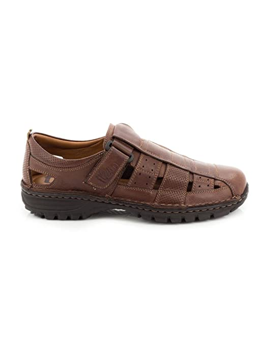 T2in R-2089 - Marron marron - Chaussures Sandale Homme