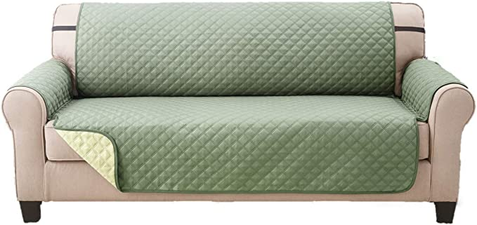 Deluxe Reversible Extra Wide Sofa Furniture Protector, Olive/Sage