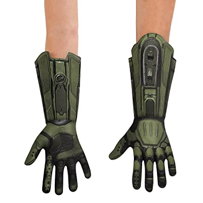 Disguise HALO Master Chief Deluxe Child Gloves, One Size: Toys & Games