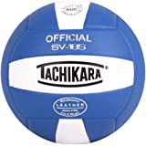 Tachikara Institutional Quality Composite Leather Volleyball, Royal-White