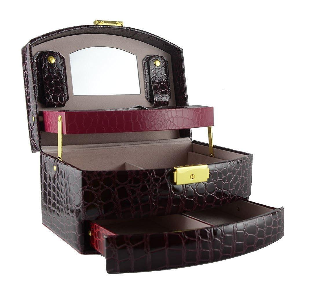 Feibrand Portagioie in Ecopelle Portagioie Scatole Per Gioielli Scatola Custodia Box TQMY CJBOXPK