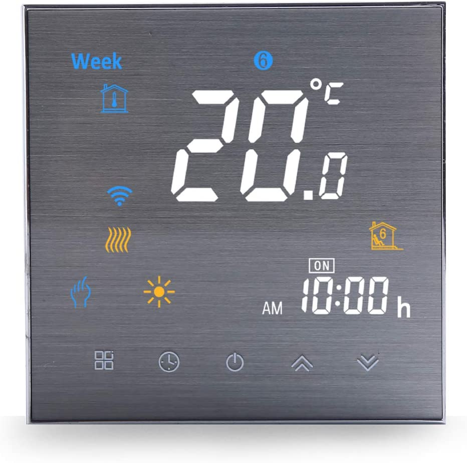 WiFi Smart Thermostat Water Heating-Programmable WiFi Thermostats for Home(2019Update) Wireless Digital Temperature Controller, Remote Control Room Thermostat Compatible with Alexa Google Home 3A