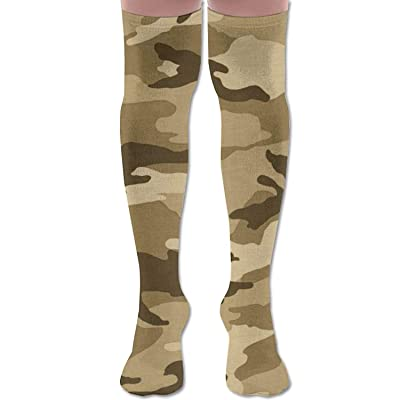 Estrange Army Camo Unisex Over The Knee High Socks Women & Men Sport High Stockings 1 Pair: Ropa y accesorios