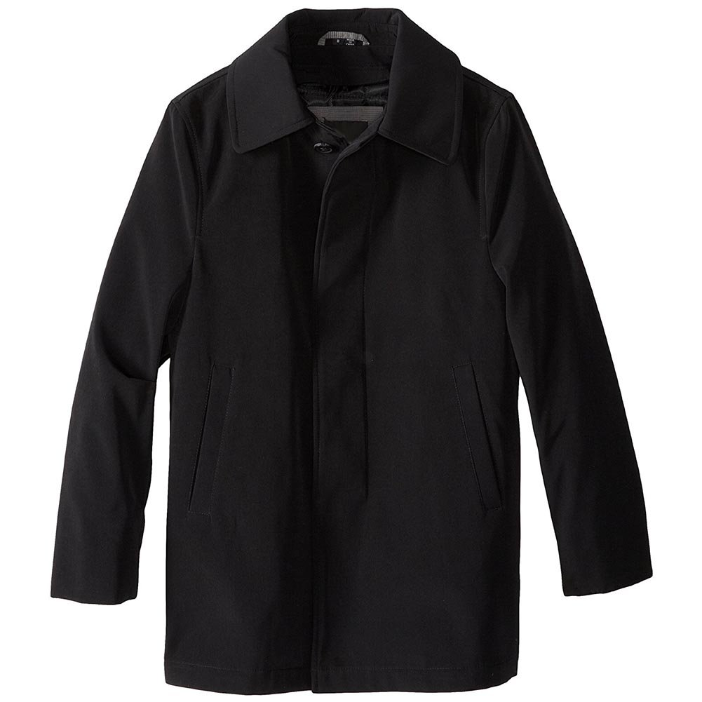Veiro Richi Boy's Mid Length All Year Round Raincoat with Removable Liner - Black - 18 by Veiro Richi