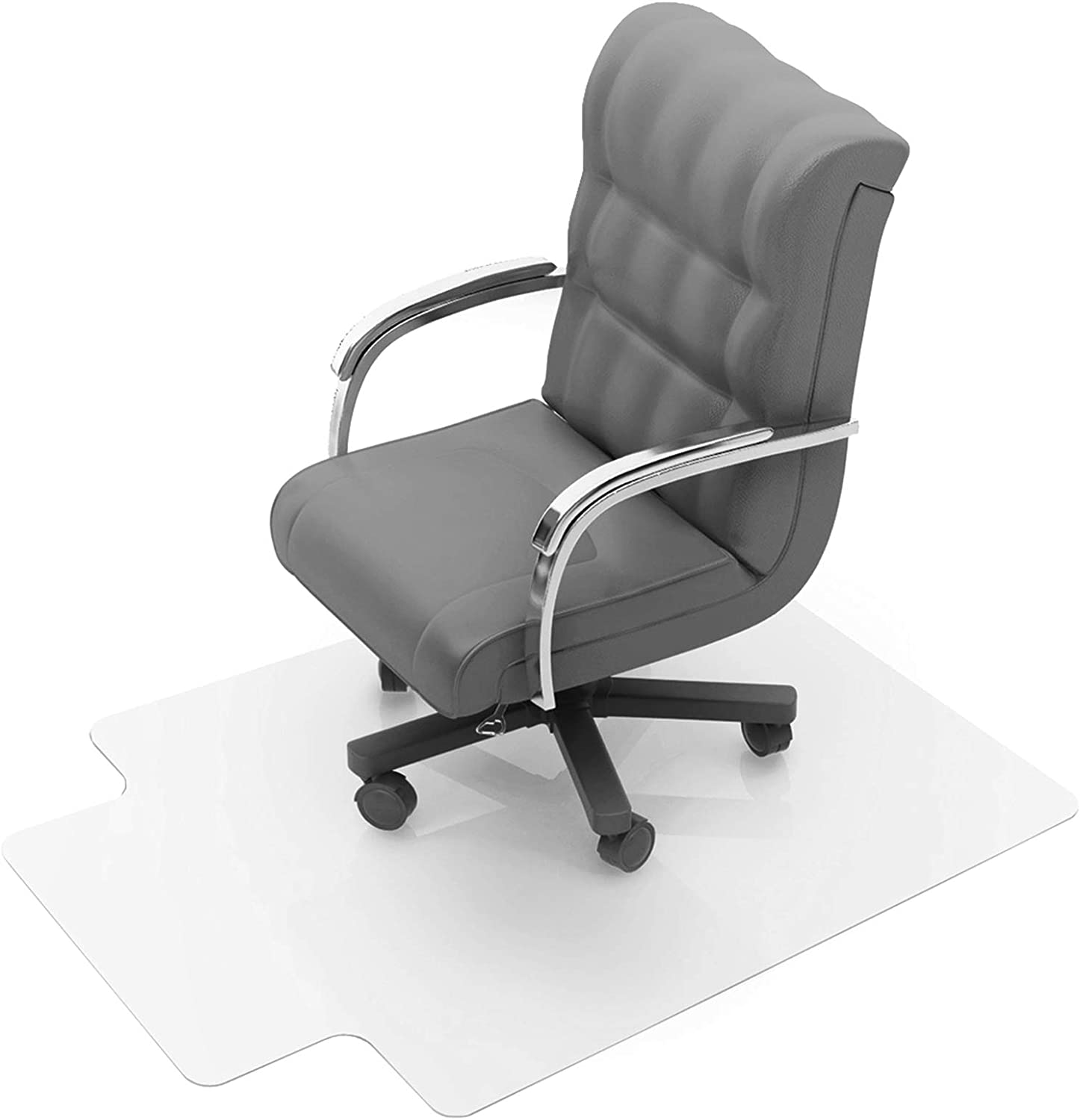 Amazon Com Floortex Polycarbonate Chair Mat With Lip 47 X 35 For Low Medium Pile Carpets Mouse Pads Office Products