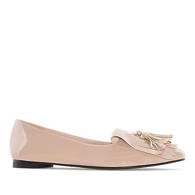 7c554709536aa Andres Machado AM5226.Mocassins Franges Verni.pour Femmes.Grandes Pointures.  42 45  Amazon.fr  Chaussures et Sacs