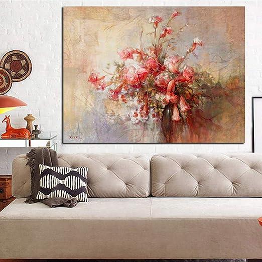 LiMengQi Cartel de Lienzo artístico Abstracto Moderno e ...