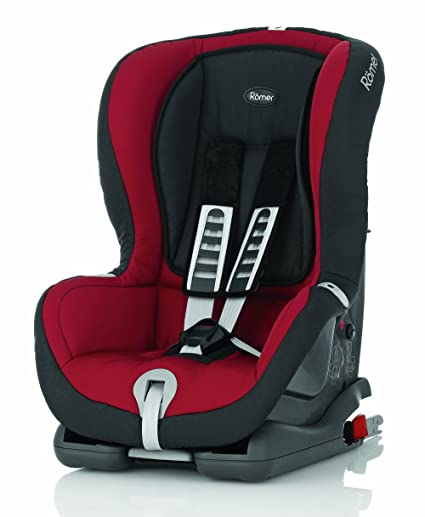 Römer Duo Plus - Silla de automóvil Grupo I, color rojo, negro