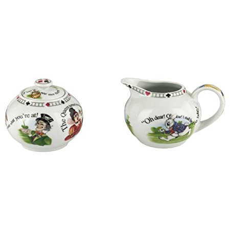 Paul Cardew Design Alice In Wonderland 725oz Covered Sugar Bowl And