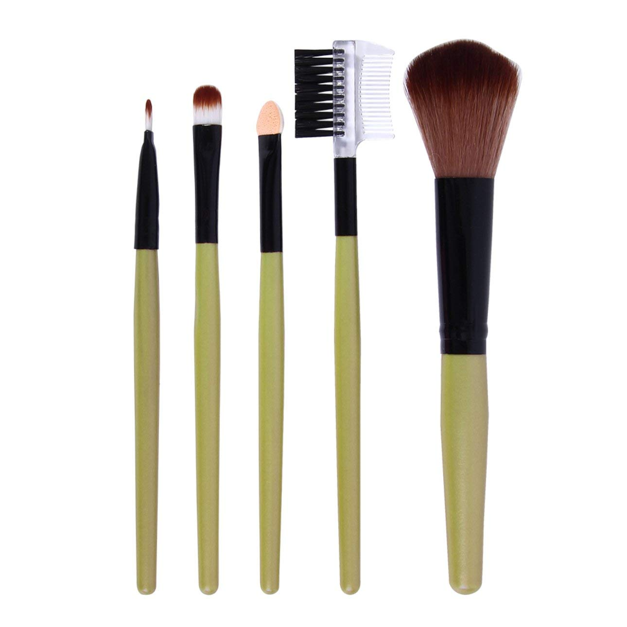 Liobaba Makeup Eye Brush, 5pcs Eyeshadow Eyeliner Blending Crease, Essential Makeup Brushes Apply Better Makeup