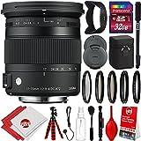 Sigma 17-70mm f/2.8-4 Contemporary DC Macro OS HSM Lens for Nikon DSLR Cameras w/ 32gb Pro Photo and Travel Bundle