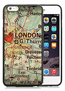 New Design Antique Map With A Heart Over The City Of London In England Grea Photograph Black High Quality iPhone 6plus 5.5 Inch Rubber TPU Phone Case
