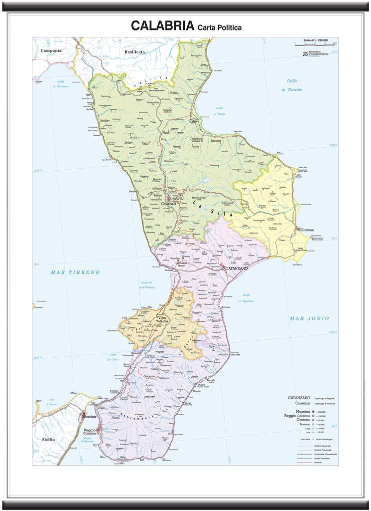 Cartina Fisica Della Calabria.Superficial Proprietar Masa Finala Cartina Della Campania Fisica Amazon Mariacastrojato Com