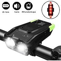TECHVIDA Luces Bicicleta, 4000mAh USB Recargable 800 Lumens Super Brillante LED Potente LUZ Bicicleta Delantera y Trasera IP68 Impermeable Linterna para Bicicleta