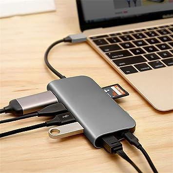 Zyx 7 En 1 Hub USB C, Hub Multi USB Tipo C, Adaptador ...