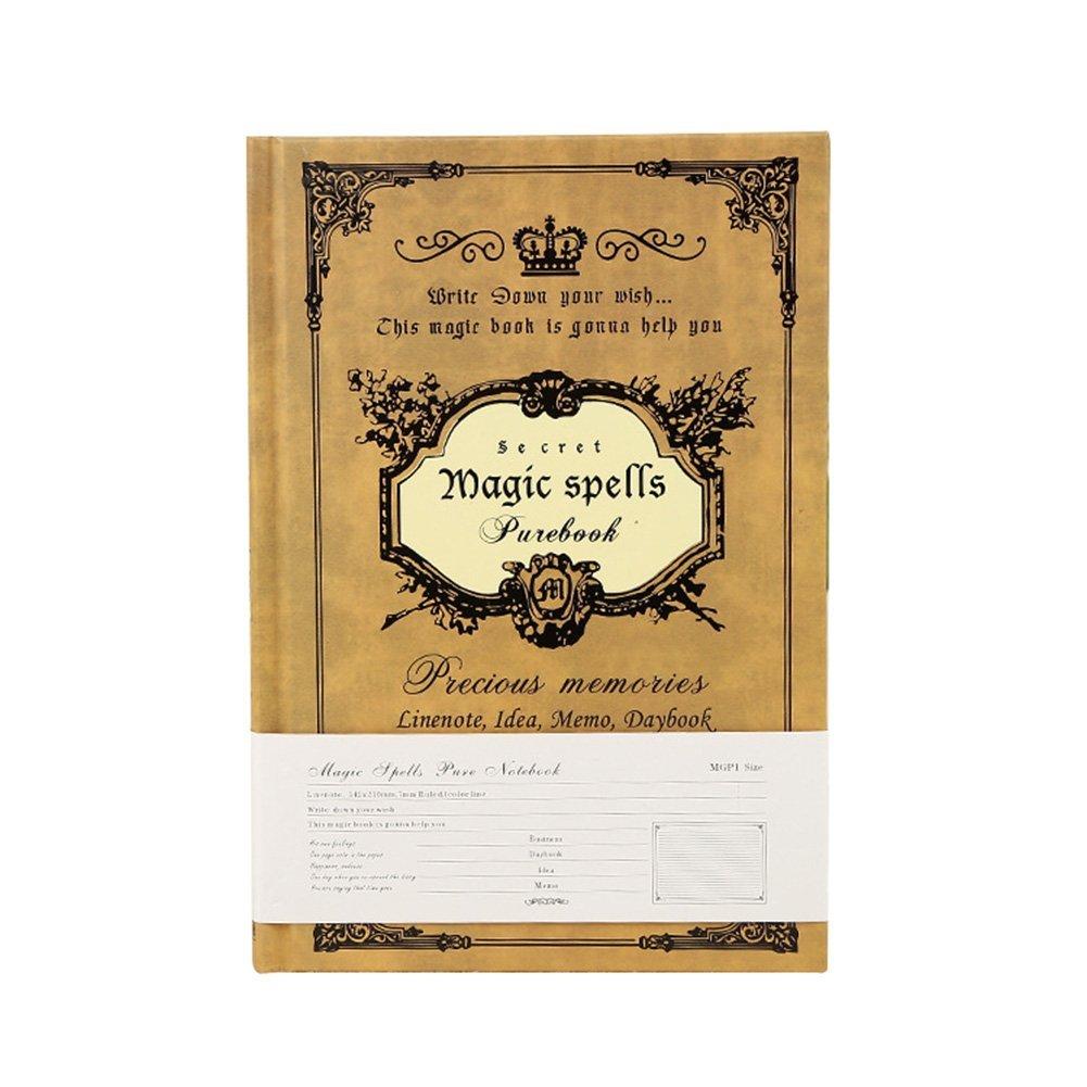 Sicond Magic Book notebook Journal quaderno formato A5 vintage agenda settimanale Magic Book cancelleria regalo 168 fogli Refillable notebook