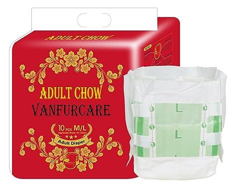 VANFURCARE - Pañales desechables de doble prevención de fugas para adultos desechables, fáciles de usar
