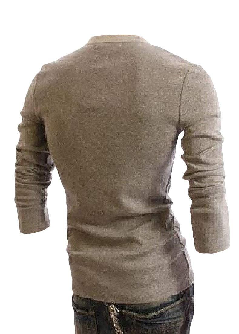 XTX Mens Faux Twinset Pullover Button Long Sleeve Sweatshirts Jacket