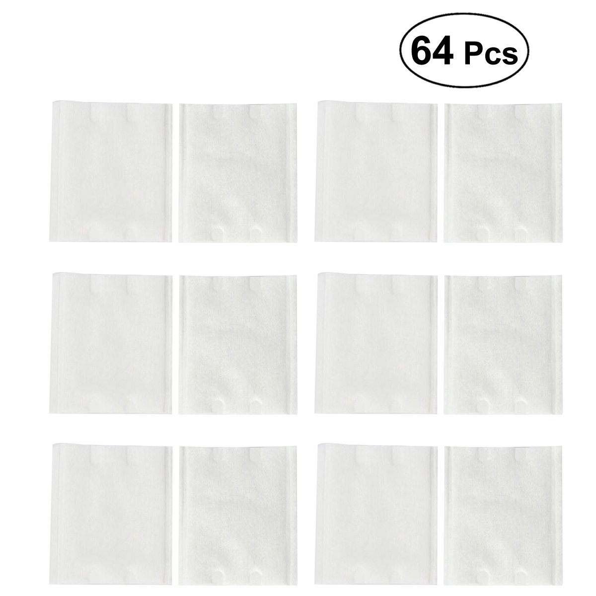 Lurrose 64 Pcs Portable Cotton Piece Makeup Remover Individual Pack Cotton Square Pad (Random Color)