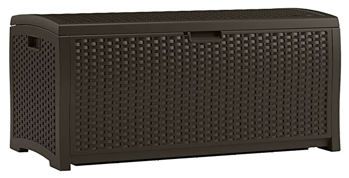 Suncast DBW7300 EMW7509888 Wicker Patio Storage Box – Best Wicker Deck Box