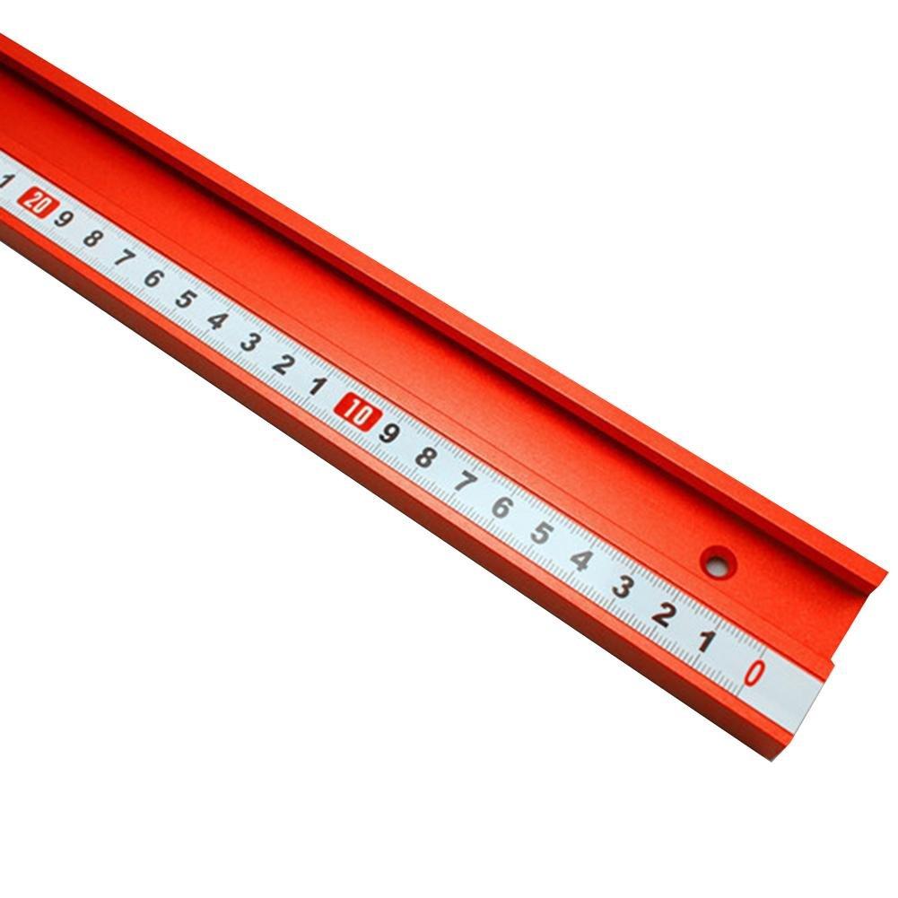 Eruditter Riel de inglete Riel de gu/ía Tipo 45 Aleaci/ón de Aluminio T-Track Riel de inglete para Sierra de Mesa Herramientas para Trabajar la Madera Herramientas de carpinter/ía DIY Ranura en T roja