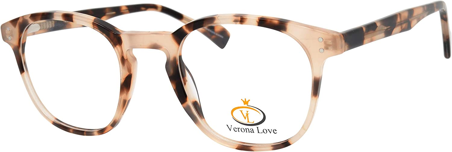 Rx-able Reading Eyeglass Frames, Mens and Women Premium Designer Acetate Hand Made Optical Frame With Rxable Demo Lenses (Vintage Demi Chestnut)
