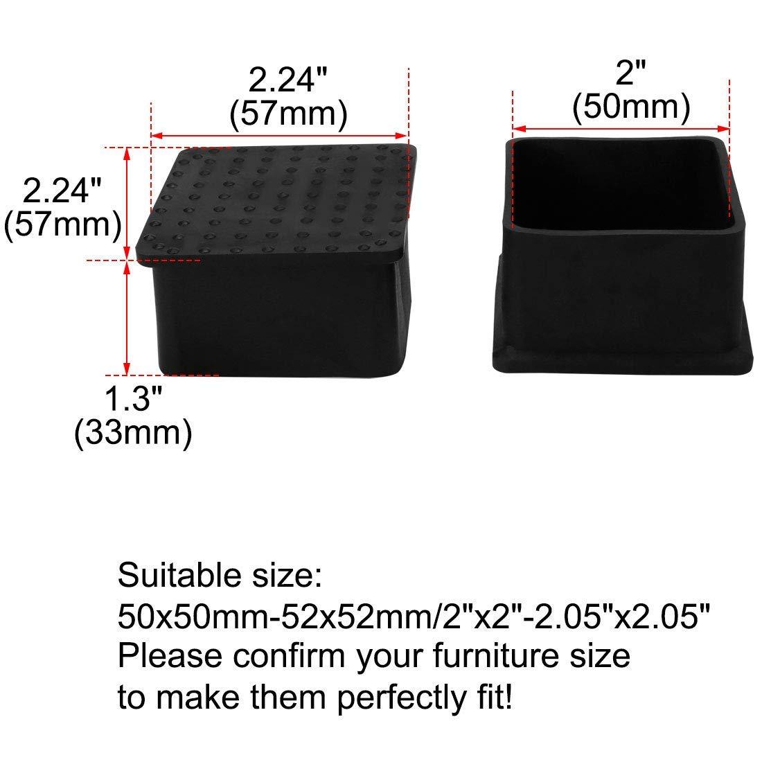 ZCHXD PVC Table Leg Cap End Tip Feet Cover Furniture Glide ...