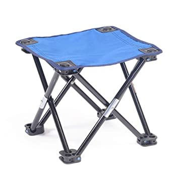 Silla Plegable De Pesca Port/átil Para Acampar Viajes Tr/ípode Asiento Taburete Azul //