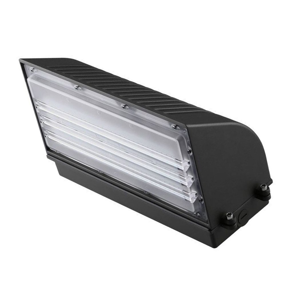 1000LED LED Wall Pack 45W Outdoor Fixture 4800Lm 250-400W HID/HPS Replacement 5000K AC100-277V Waterproof IP65 Security Light Area Light Wall Mount