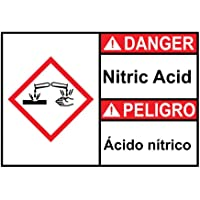 VinMea Danger Nitric Acid – Señal de Advertencia