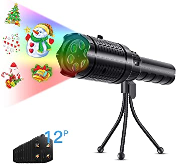 Taococo 12-Pattern LED Holiday Projector Light