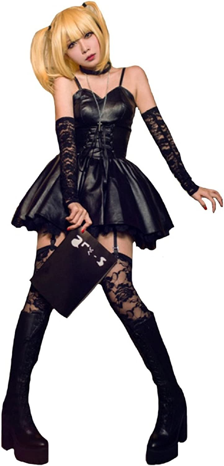 Misa Amane Costume Death Note Cosplay Dress Full Set Uniform Women  Halloween Accessories