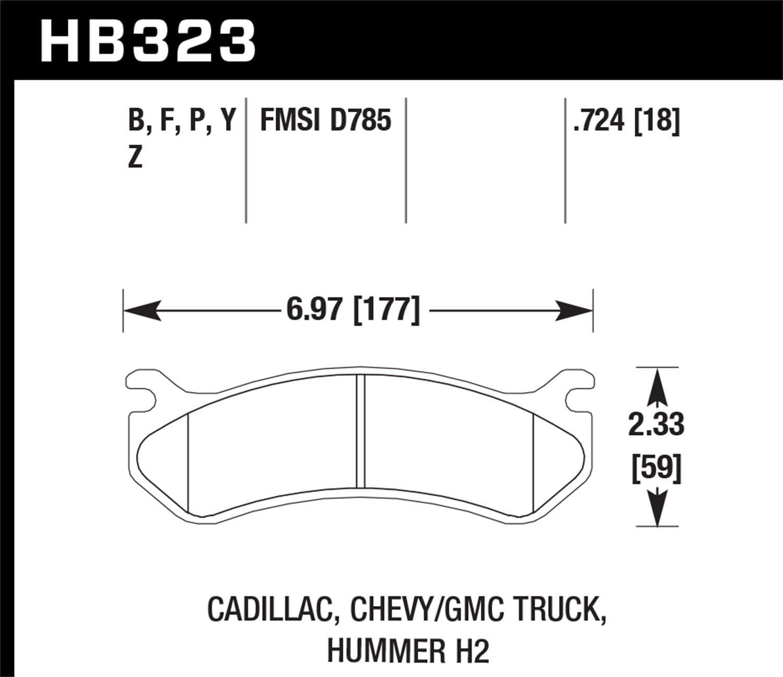 Hawk HB561Y.710 LTS High Performance Truck//SUV Brake Pads Front Set