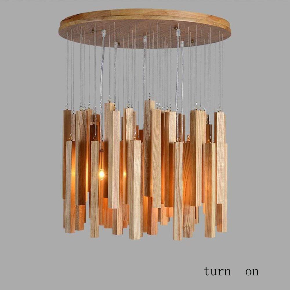 Amazon.com: PLLP - Lámpara de araña artesanal de madera para ...