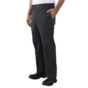 Label blouse Pantalon de cuisine 4 poches avec tailles élastiquée sur coté Sergé 210 gramme Couleurs Blanc Noir Taille élastiquée Lavage Machine 90 degrés ou industriel