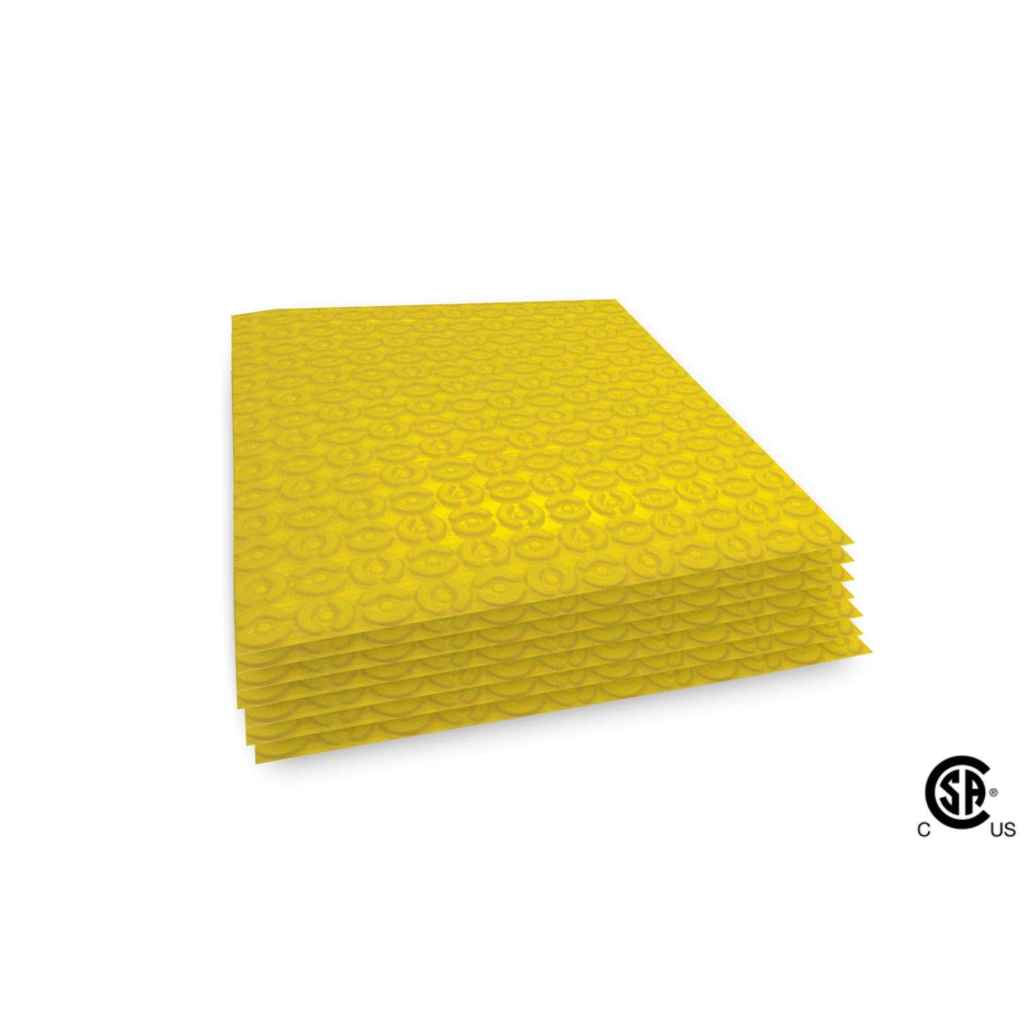 Momento Uncoupling Membrane for Under Tile Heating Systems and Crack Prevention-15.60sqft. New Tile Underlayment with Self-Adhesive Backing, Adheres to Subfloor Without Mortar - Other Sizes Available by ProLux Materials