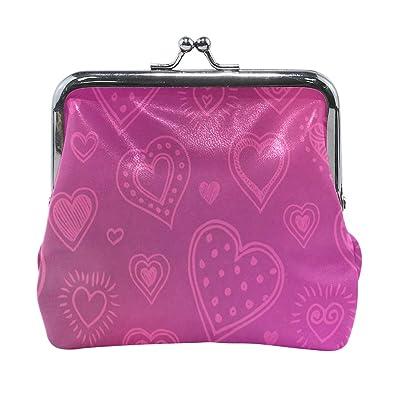 Amazon.com: Monedero con diseño de corazón para mujer ...