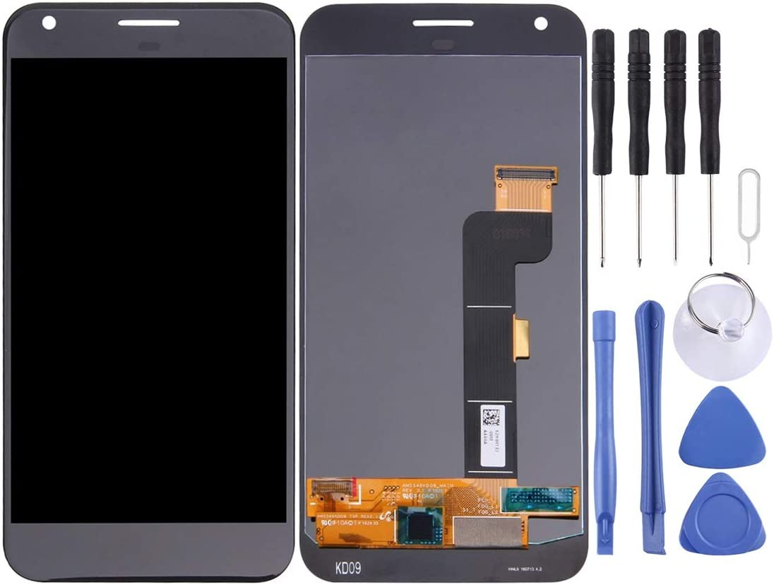 Black Color : White ATDA AYSMG LCD Screen and Digitizer Full Assembly for Google Pixel XL//Nexus M1