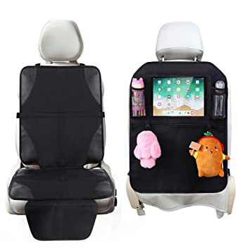 Car Seat Back Cover Mat Baby Feeding Bottle Snack Tablet Organizer Cartoon Storage Bags Multi-functional Hanging Holders Year-End Bargain Sale Activity & Gear Strollers Accessories