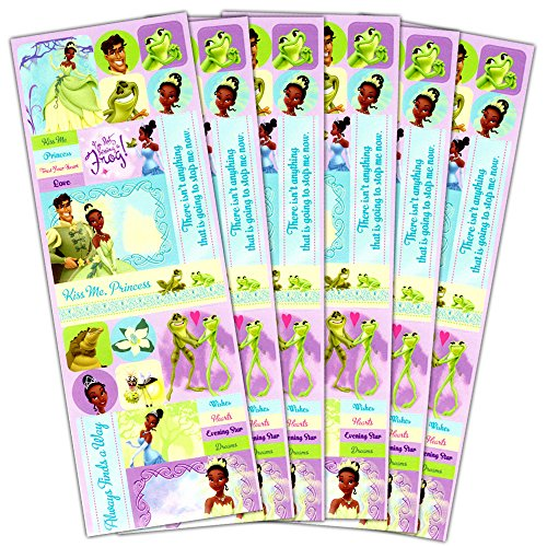 Disney Princess and the Frog Stickers Party Supplies Pack -- Over 100 Princess and the Frog Stickers featuring Princess Tiana -